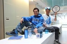 Manuel and Ryan representing Science