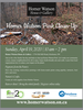 Earth day at Homer Watson House and Gallery informational poster