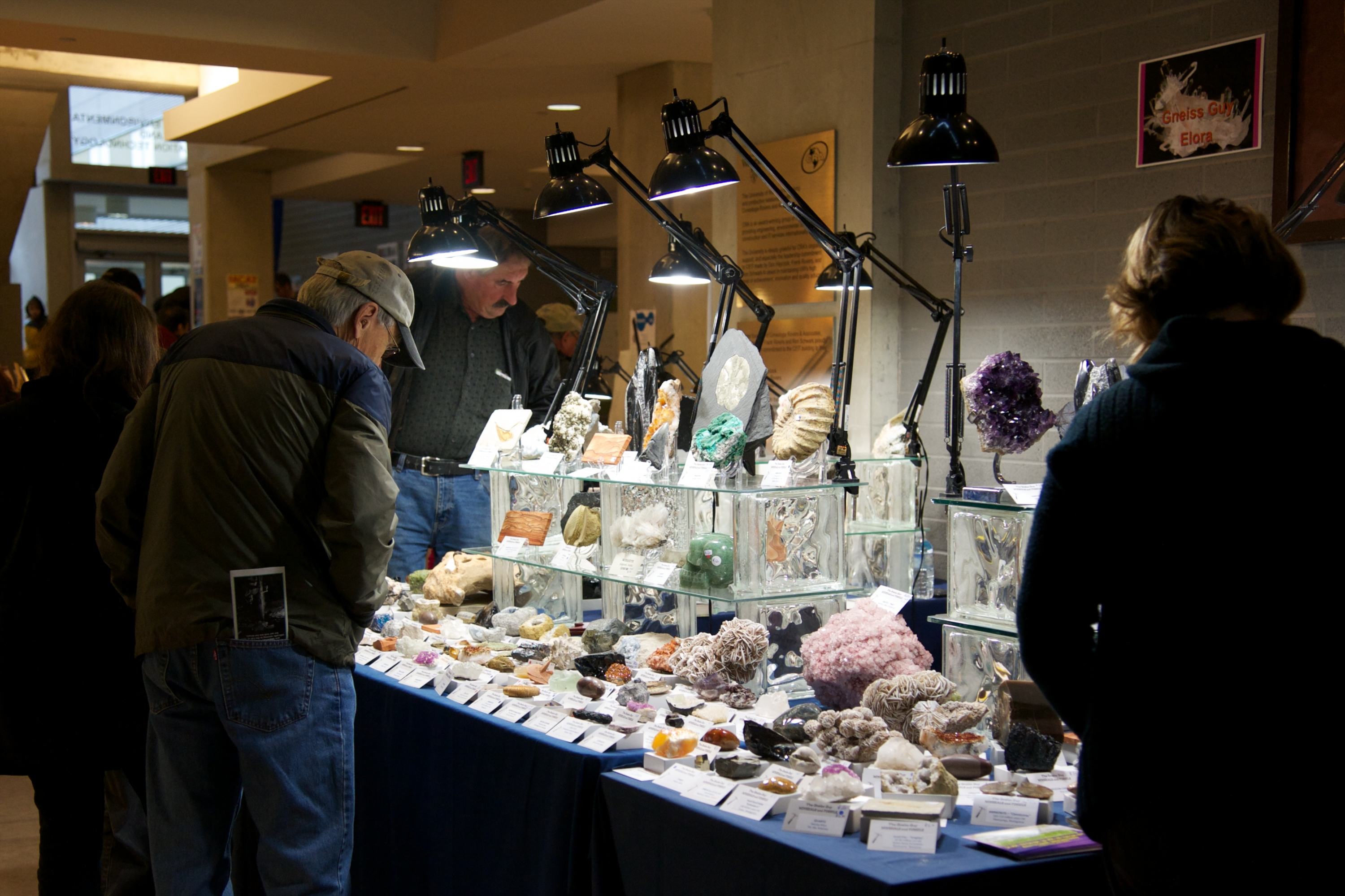mineral dealers' table at 2012 show