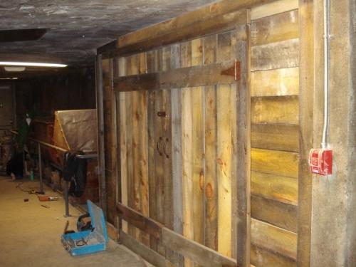 mine tunnel installation- wood doors