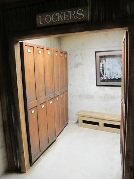 locker room area