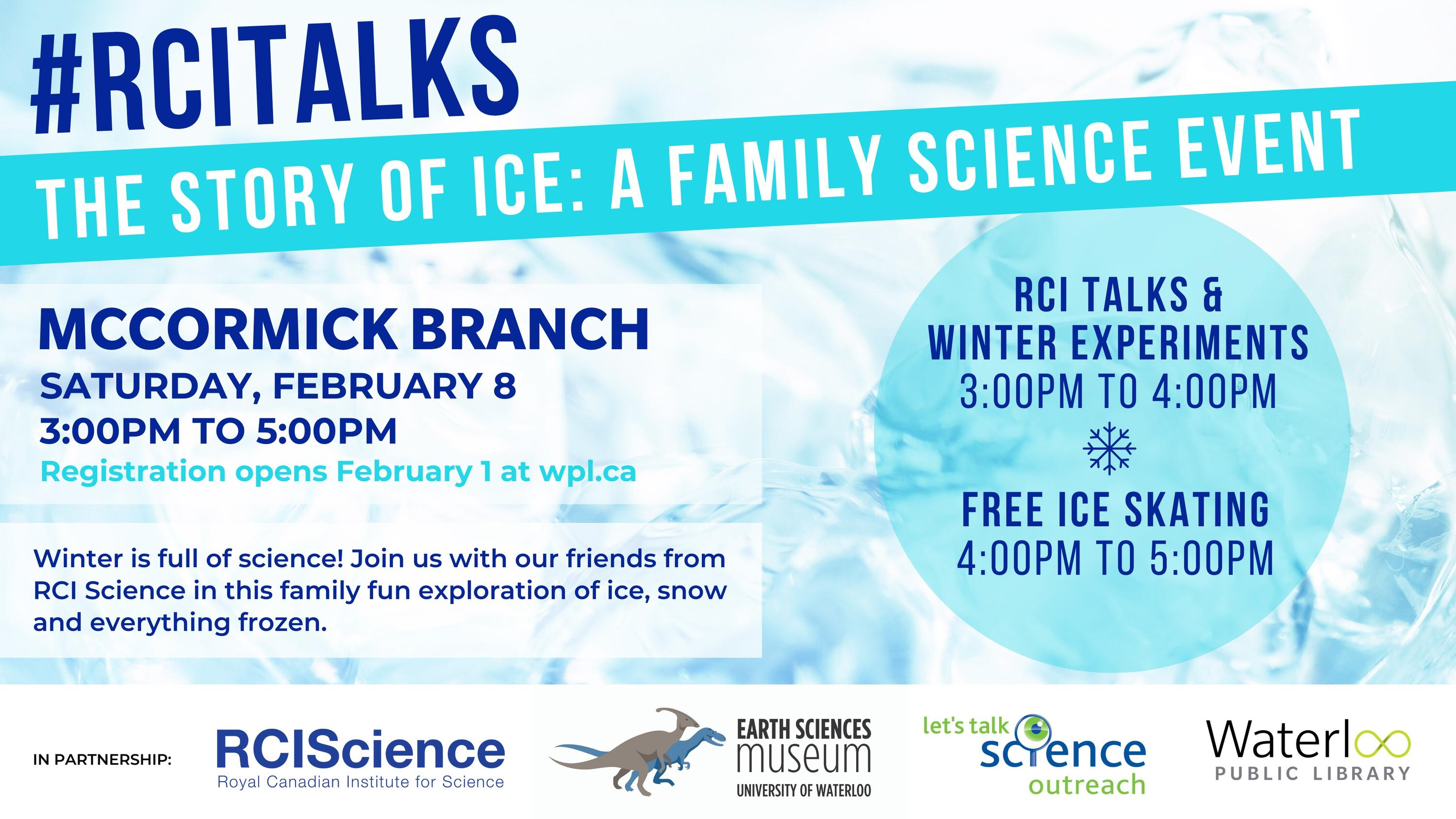 Informational poster for RCI Talks event