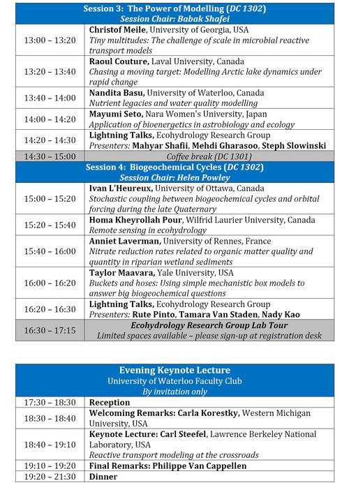 ERG symposium program