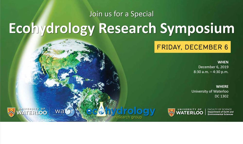 Banner for Ecohydrology Research Symposium