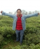 Bijendra Bajrachary in a field