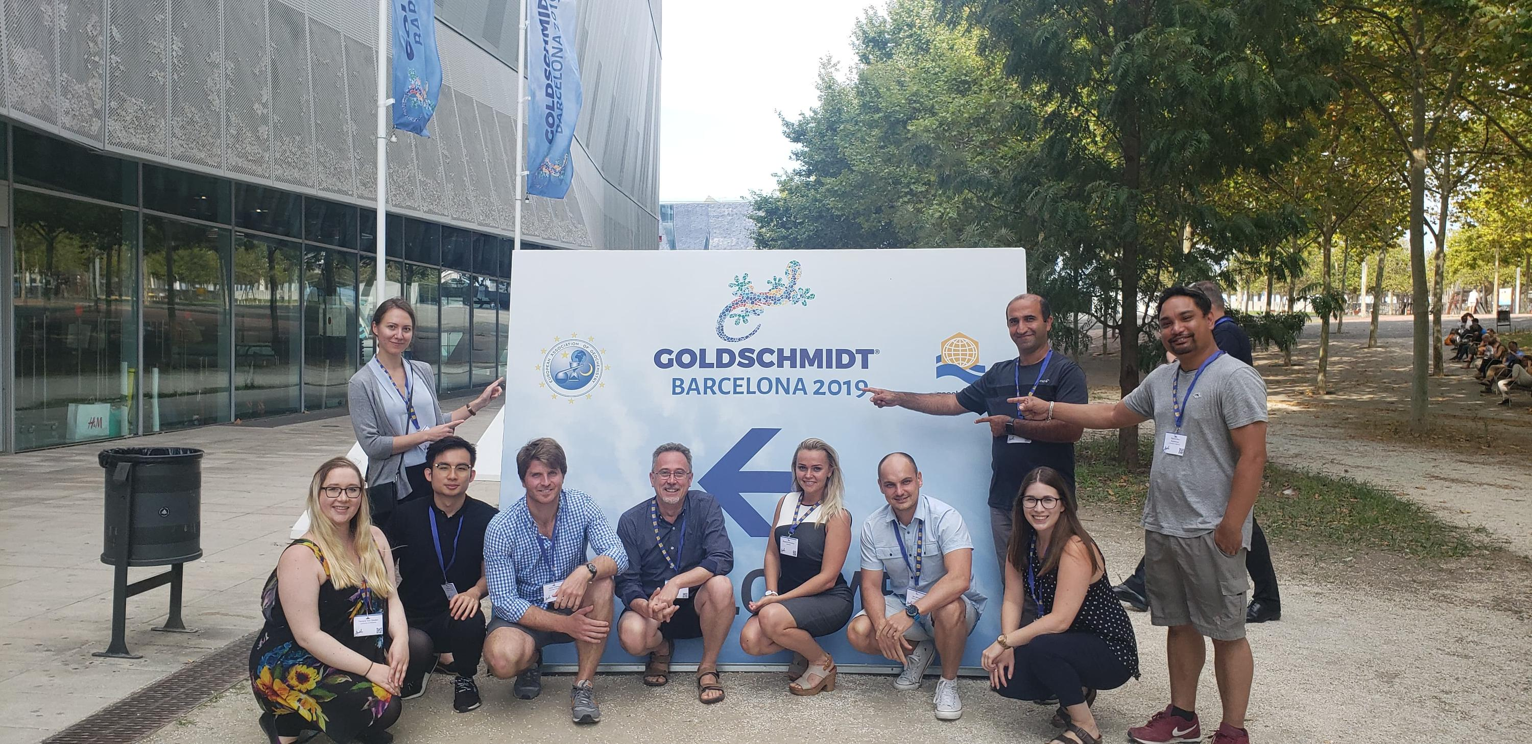 Ecohydrology group members attended Goldschmidt 2019 in Barcelona, Spain.