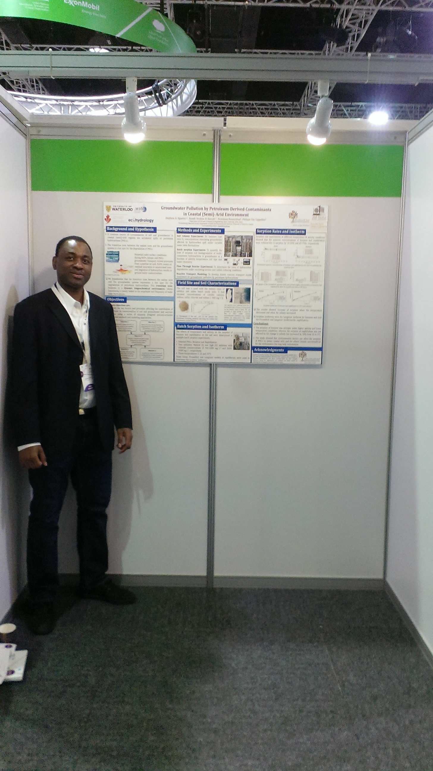 Stephane and his poster