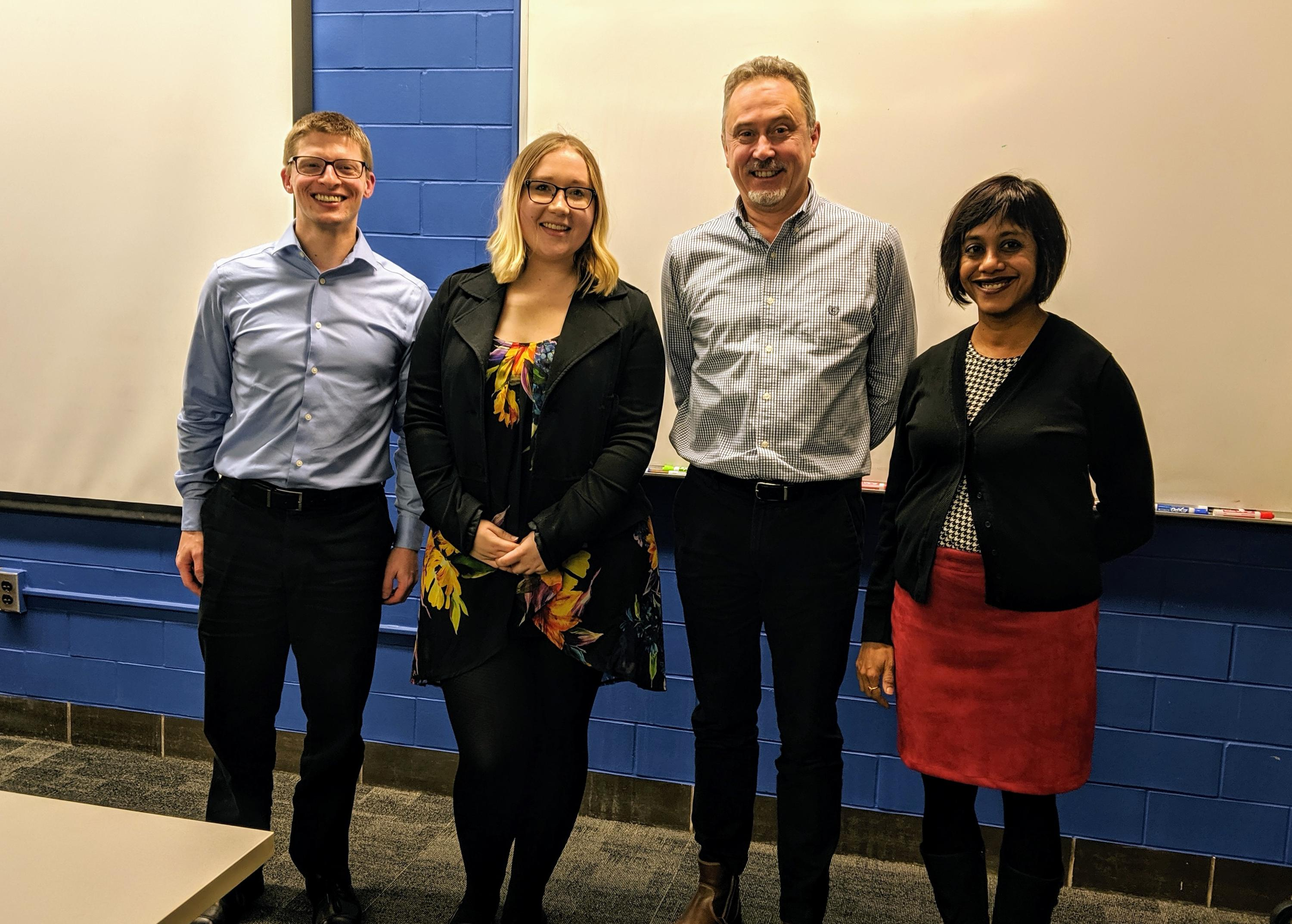 Tamara Van Staden and her MSc defence examination committee