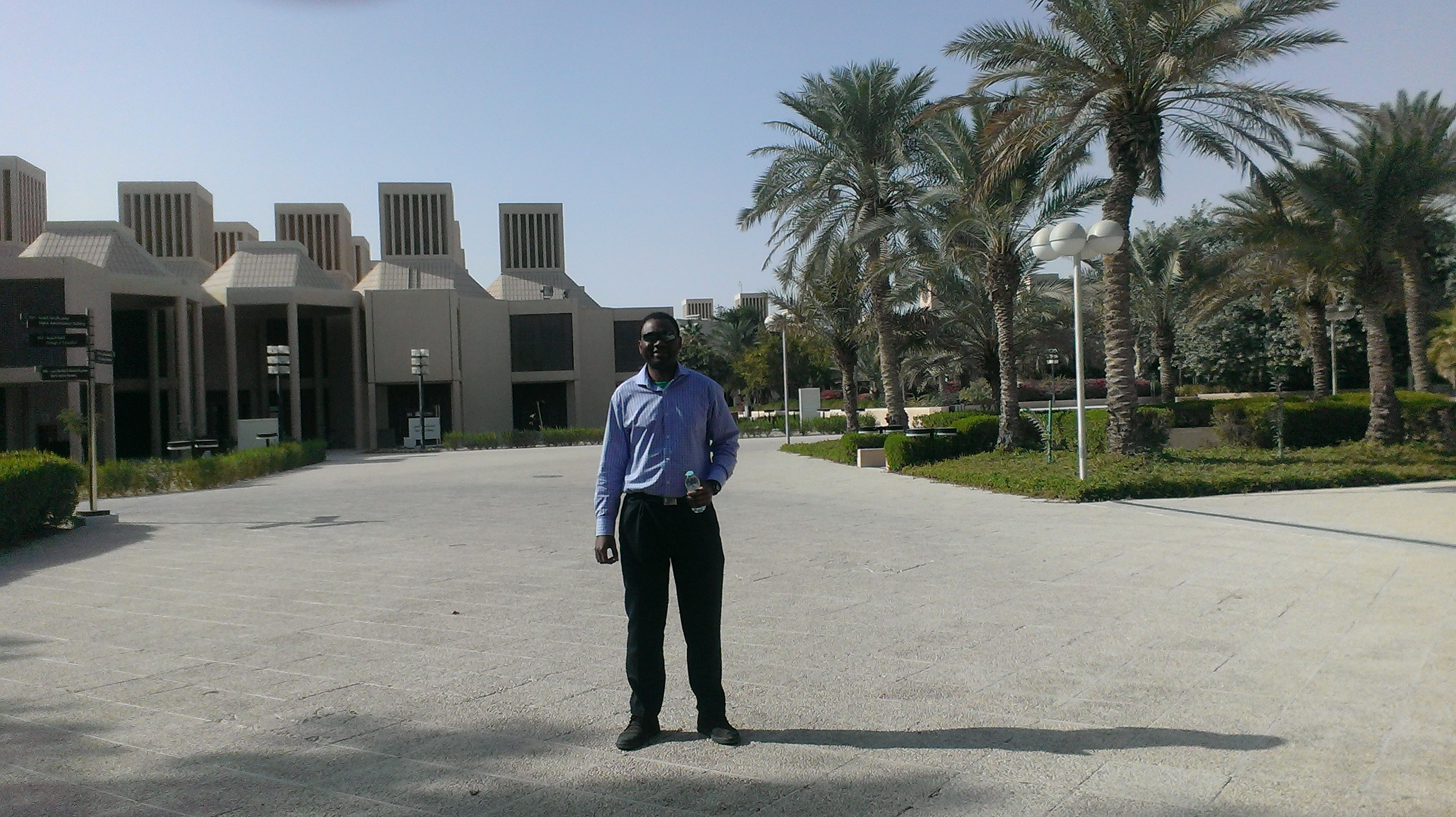 Stephane Ngueleu at Quatar University