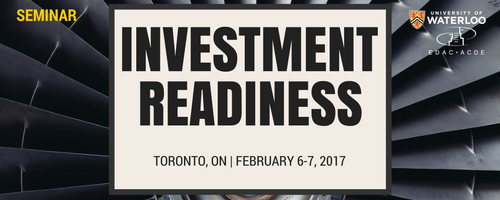 Investment readiness seminar banner