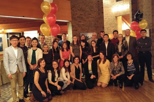 2017 Graduate Student Dinner Group Shot