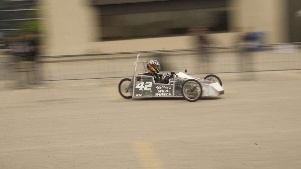 Car # 42 in action