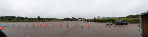 Panoramic view of the days set up