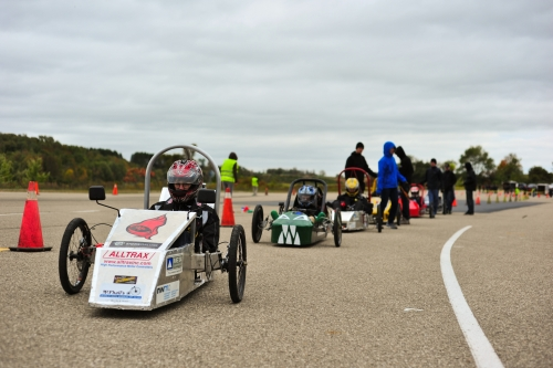 Cars compete at the Fall Race