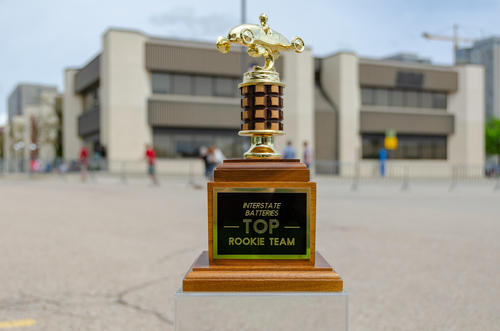 Top Rookie Team trophy picture