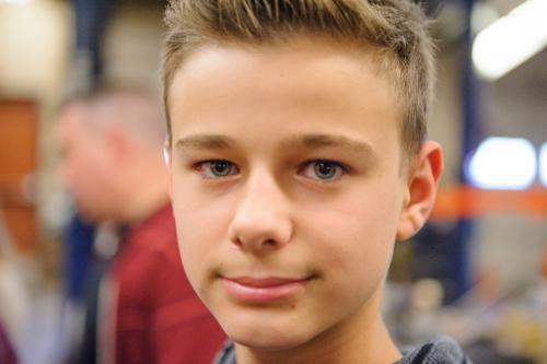 Saxon, grade 9 student