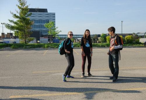 Student participants at the Electric Vehicle Challenge