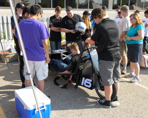 Judges inspect Jacob Hespler's car