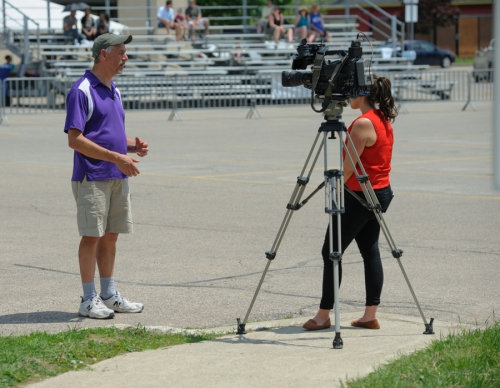 CTV interviewing Peter Teertstra
