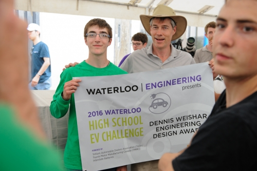 Bluevale accepts Engineering Design Award