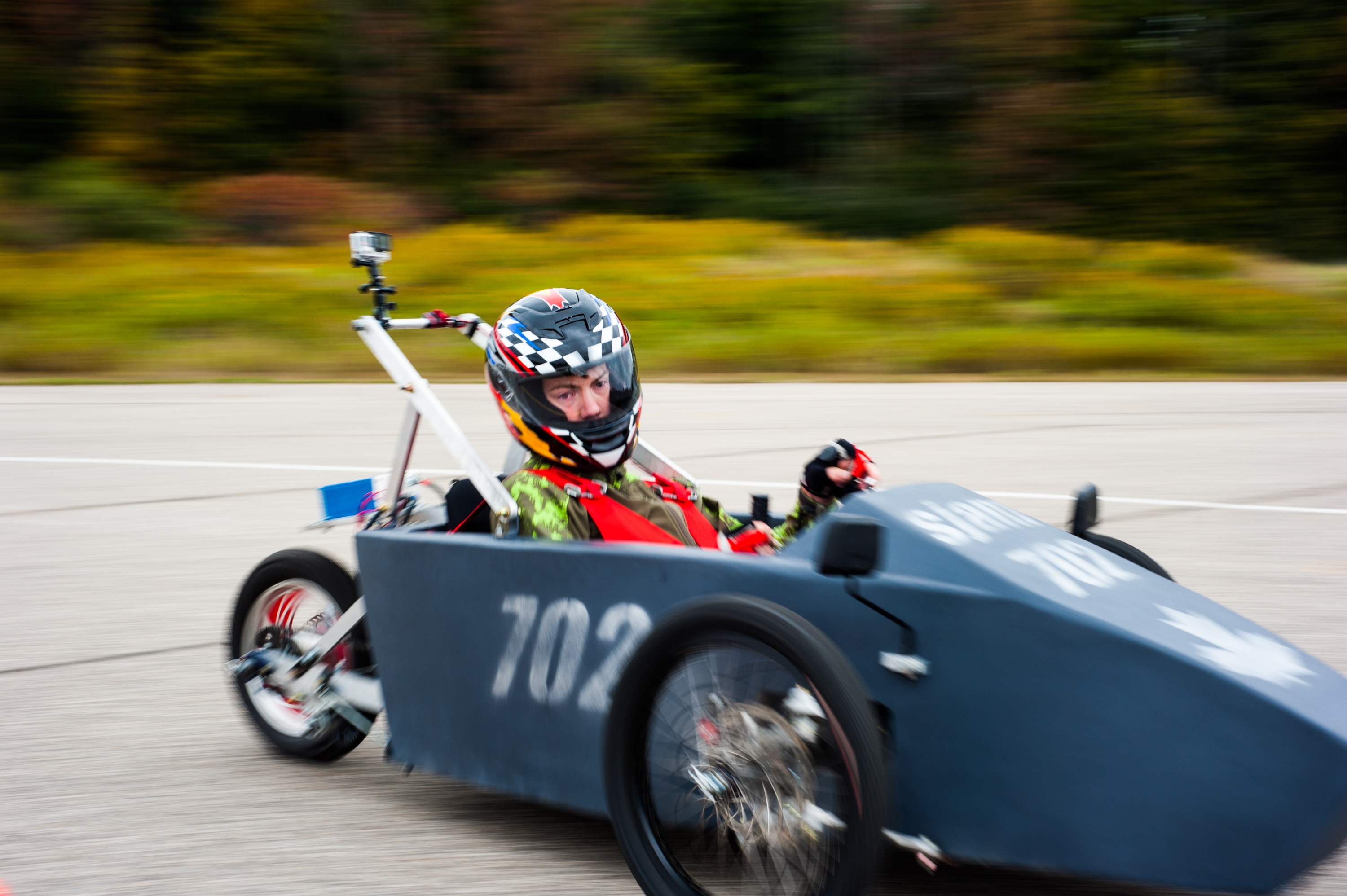 A car at the 2015 EV Challenge Fall Race