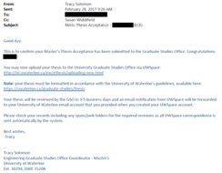 Sample Faculty Acceptance Notice