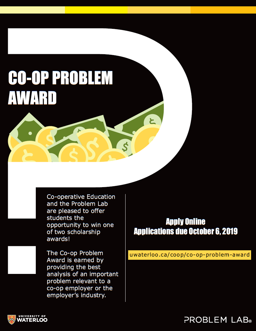 Co-op problem award flyer