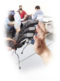 Robotic hand with real hand