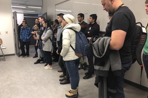 People at Lab Tour