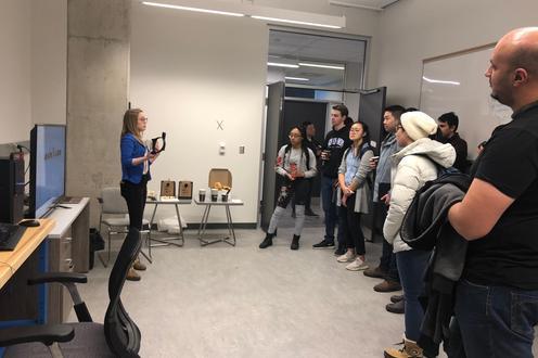 Sarah Presenting SSVEP project