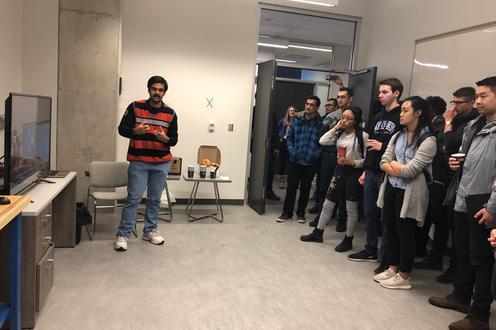 Aravind Presenting SSVEP project
