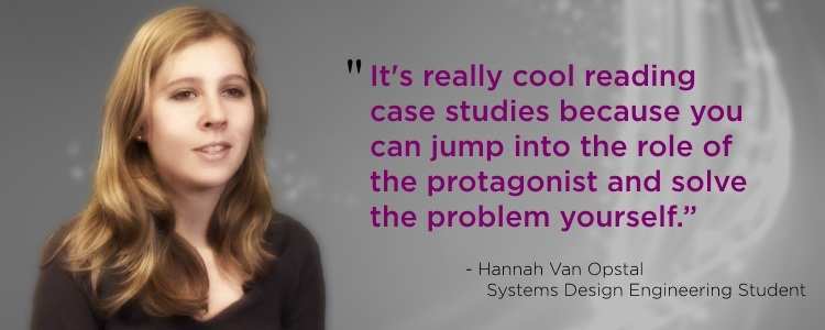 Systems Design Engineering student's testimonial