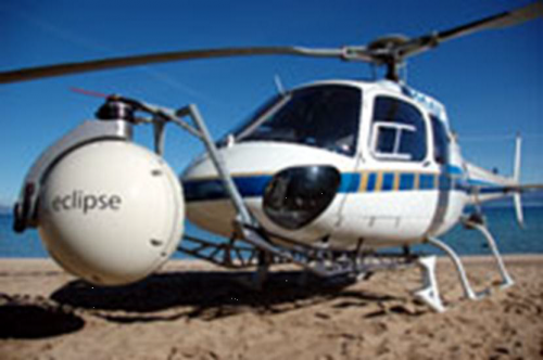 helicopter with mounted image stabilizer system
