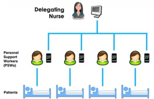 Flow diagram of Registered Nurses and Personal Support Workers