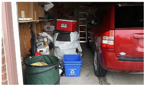Cluttered Garage Space