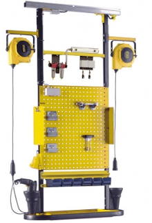 A mobile TCT system to supply compressed air and electricity to factory workers