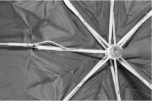 Existing umbrella showing damaged rod