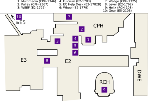 Location of Engineering Computer Labs