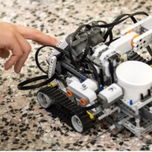 Students Work on a LEGO Car