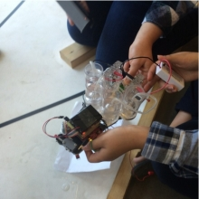 Studetnts Work on their Fuel Cell Cars