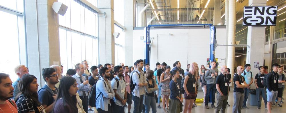 Students attending opening speeches at EngCon 2017