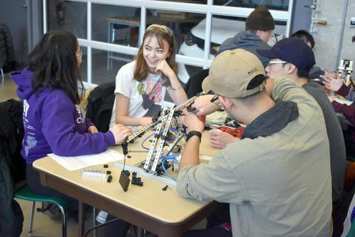 Students working on an Engineering Design Days Activity - January, 2018