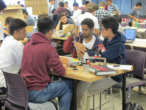 Students working on an Engineering Design Days activity in Mechatronics