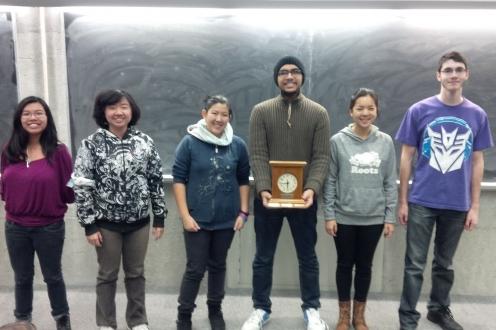 Students winning award.