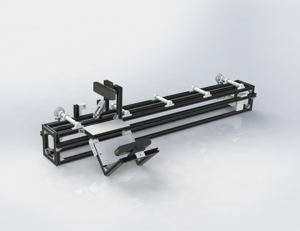 Solid model of conveyer belt prototype