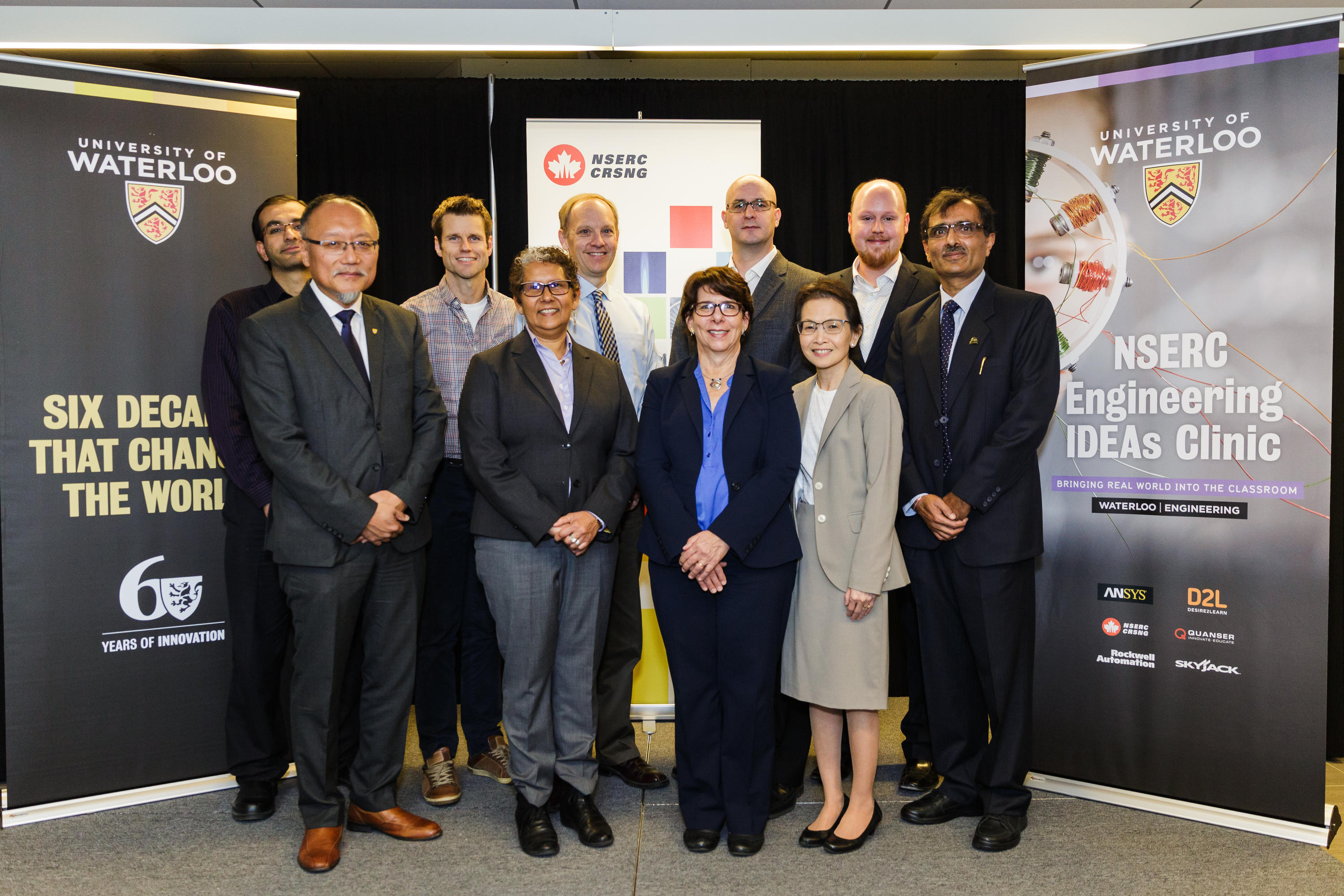 Photo of the new NSERC Chair with all the Industry sponsers