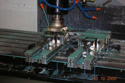 Face milling on HAAS VF4
