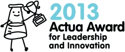 2013 Actua Award for Leadership and Innovation Logo