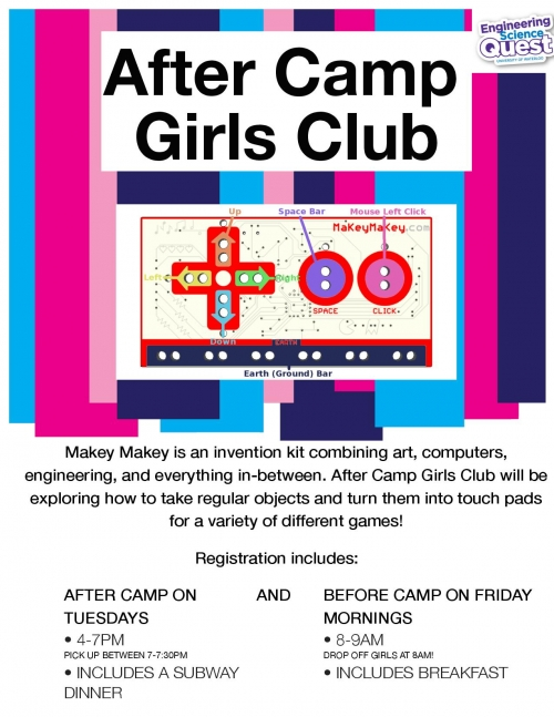 after camp girls club flyer