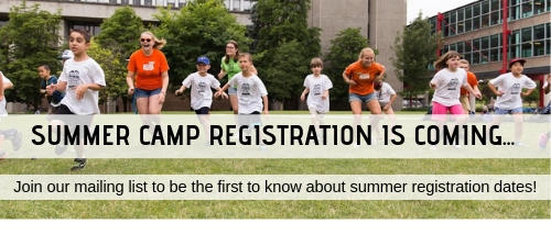 Summer campers outside, text reading Summer Camp Registration is Coming